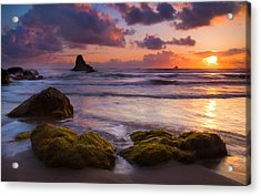 Golden Tides Acrylic Print by Mike  Dawson
