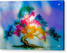 Da183 Golden Tree Daniel Adams Acrylic Print