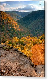 Golden Valleys Acrylic Print by Ryan Heffron