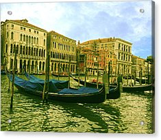 Acrylic Print featuring the photograph Golden Venice by Anne Kotan