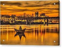 Golden Vistula Acrylic Print