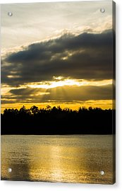 Golden Warmth At Sunset Acrylic Print by Parker Cunningham
