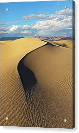 Acrylic Print featuring the photograph Death Valley - Golden Wave by Francesco Emanuele Carucci