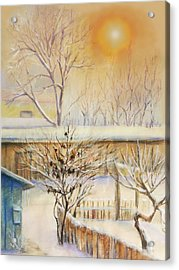 Golden  Winter Morning  Acrylic Print