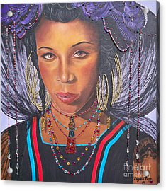 Blue Cat Productions  Golden Wodaabe Girl Acrylic Print