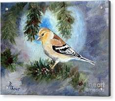 Goldfinch In A Tree Acrylic Print