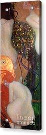 Goldfish Acrylic Print by Gustav Klimt