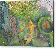 Goldfish Pond 1 Acrylic Print by Madeleine Arnett