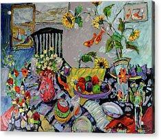Goldfish Rumble Acrylic Print by Sharon Furner