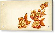 Goldfish School Acrylic Print by Catherine Noel