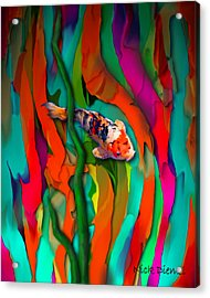 Goldfish World Acrylic Print by Nick Diemel