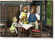 Goldilocks N The 3 Bears Acrylic Print by Methune Hively