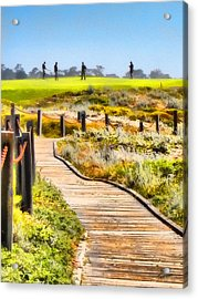Golf At Pebble Beach Acrylic Print