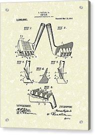 Golf Club 1914 Patent Art Acrylic Print by Prior Art Design