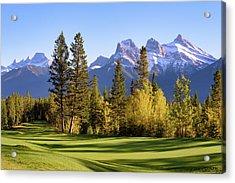 Silvertip Golf Course Acrylic Print