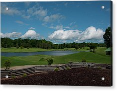 Golf Course The Back 9 Acrylic Print by Chris Flees