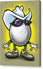 Golf Cowboy Acrylic Print