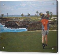 Golf Day Acrylic Print by Betty-Anne McDonald