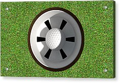 Golf Hole With Ball Inside Acrylic Print