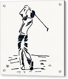 Golf I Acrylic Print by Winifred Kumpf