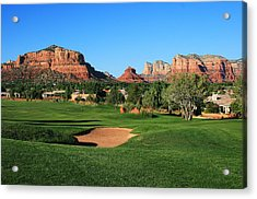 Golf In Paradise Acrylic Print