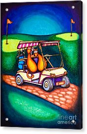 Golf Kats Acrylic Print by Laurie Tietjen