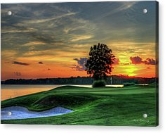 Golf Lake Oconee Reynolds Landing Art Acrylic Print by Reid Callaway
