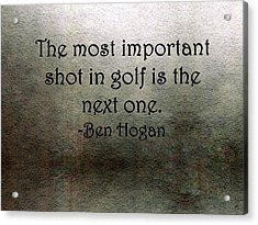Golf Quote Acrylic Print