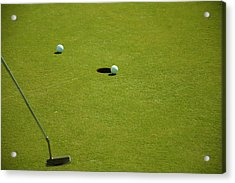 Golf - The Longest Inch Acrylic Print by Chris Flees