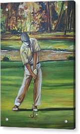 Acrylic Print featuring the painting Golf Tips by Emery Franklin