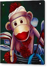 Golfer Made Of Sockies Acrylic Print