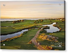 Golfing At The Gong II Acrylic Print by Ray Warren