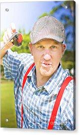 Golfing Dispute Acrylic Print