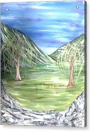 Golfing In Glacier Acrylic Print