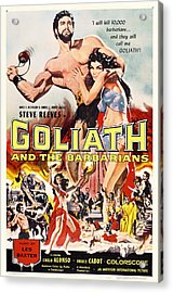 Goliath And The Barbarians 1959 Acrylic Print by Mountain Dreams