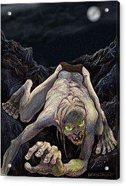 Gollum Descends Acrylic Print by Brian Child