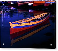 Gomier Canoe-st Lucia Acrylic Print by Chester Williams