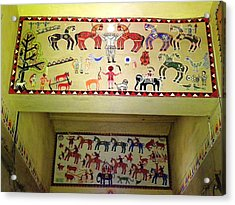 Gond Tribal Art Acrylic Print by Rajendra Yadav