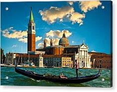 Gondola And San Giorgio Maggiore Acrylic Print