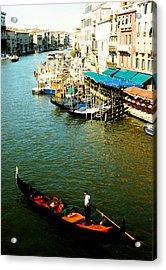 Gondola In Venice Italy Acrylic Print by Michelle Calkins