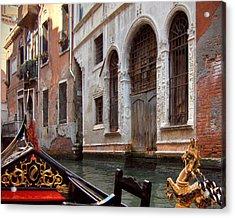 Gondola Acrylic Print by Julie Geiss