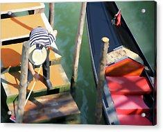 Gondola Morning Chores Acrylic Print