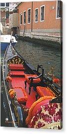 Gondola Rossa Venice Italy Acrylic Print