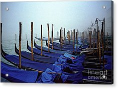 Gondolas In Venice In The Morning Acrylic Print by Michael Henderson
