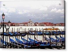Gondolas In Venice Acrylic Print by Michael Henderson