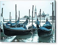 Gondolas On The Venice Lagoon Acrylic Print