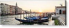 Gondolas Sunrise 00323 Acrylic Print