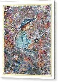 Gone Fishin' Acrylic Print by Corri Johanson