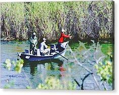 Gone Fishin' Acrylic Print by Kae Cheatham