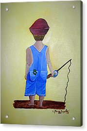 Gone Fishing 2 Acrylic Print by Sharon Supplee